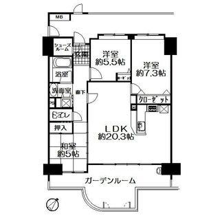 サンリヤンアネックス美咲が丘駅前 7階 3LDK