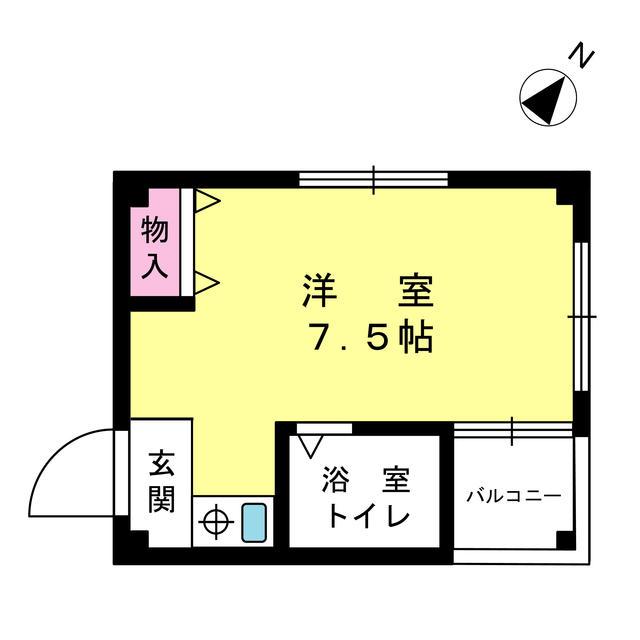 ワンフロアーに2戸ずつ、隣接しない配置です。